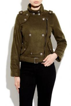 Wool Military Jacket With Pewter Buttons